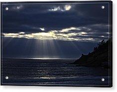 Rays Of Hope At Cape Kiwanda Oregon Acrylic Print