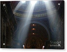 Rays Of Hope St. Peter's Basillica Italy  Acrylic Print by Bob Christopher