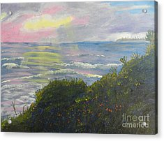 Rays Of Light At Burliegh Heads Acrylic Print by Pamela  Meredith