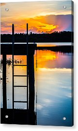 Rays Of  Sun By The Dock Acrylic Print