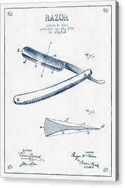 Razor Patent From 1902 - Blue Ink Acrylic Print