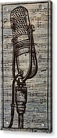 Rca 77 On Music Acrylic Print by William Cauthern