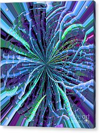 Reach Of The Bamboo Forest Acrylic Print by Ann Johndro-Collins