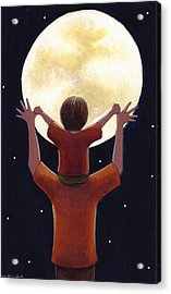 Reach The Moon Acrylic Print by Christy Beckwith