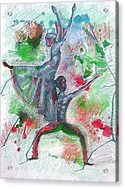 Reaching For New Heights Acrylic Print by Lamario Chez Jackson