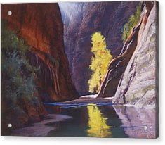Reaching Through The Narrows Acrylic Print