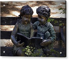Read With Me Acrylic Print by Frank Wilson