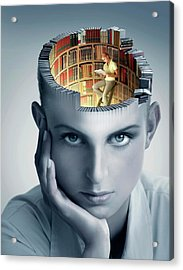 Reading And Memory Acrylic Print