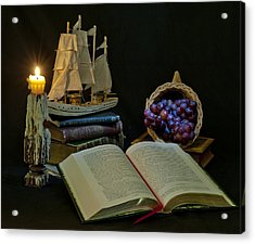 Acrylic Print featuring the photograph Reading By Candlelight by Rick Hartigan
