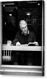 Reading Acrylic Print by Giuseppe Milo