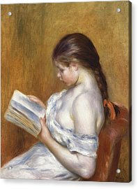 Reading Acrylic Print by Pierre Auguste Renoir