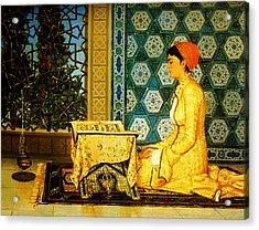 Reading The Quran Acrylic Print