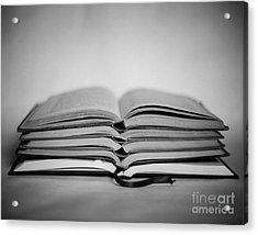 Reading Time Acrylic Print by Sonja Quintero