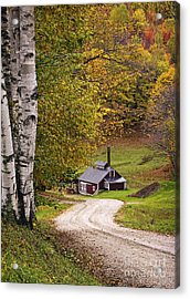 Reading Vermont Sugar Shack Acrylic Print by Priscilla Burgers