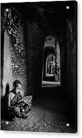 Readings Acrylic Print by Michael Lim
