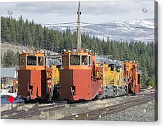 Acrylic Print featuring the photograph Ready For More Snow At Donner Pass by Jim Thompson
