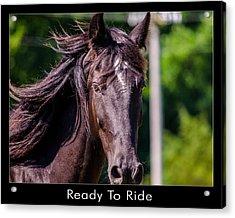 Ready To Ride Acrylic Print by Dan Holland