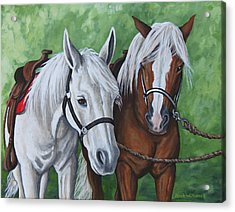 Acrylic Print featuring the painting Ready To Ride by Penny Birch-Williams