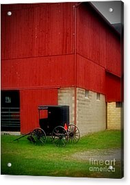 Readying The Buggy Acrylic Print by Desiree Paquette