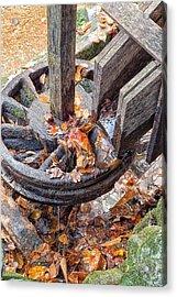 Reagan Mill Tub Wheel Acrylic Print