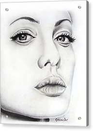 Real Angelina Acrylic Print by Atinderpal Singh