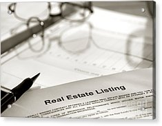Real Estate Listing Acrylic Print