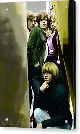 Real Exile The Brian Jones Rolling Stones  Acrylic Print by Iconic Images Art Gallery David Pucciarelli