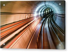 Real Tunnel With High Speed Acrylic Print by Fredfroese