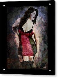 Real Woman Real Curves Acrylic Print by Absinthe Art By Michelle LeAnn Scott