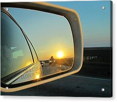 Rear View Sunset Acrylic Print