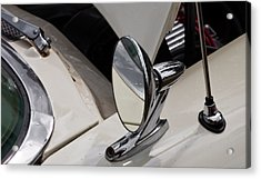 Rear View Wing Mirror Chrome Acrylic Print by Mick Flynn