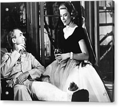 Rear Window, From Left James Stewart Acrylic Print by Everett