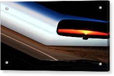 Rearview Sunset Acrylic Print
