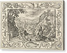 Rebecca And Eliezer At The Well, Adriaen Collaert Acrylic Print