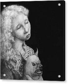 Rebecca Acrylic Print by Louis Gleason