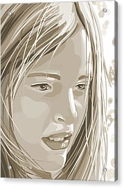 Rebecca Acrylic Print by Veronica Minozzi