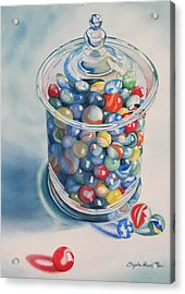 Rebecca's Marbles Acrylic Print