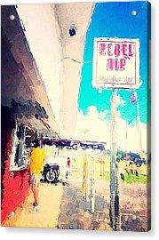 Rebel Dip Acrylic Print by M  Stuart