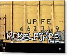 Rebel Force Acrylic Print by Donna Blackhall