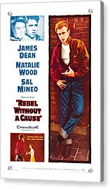 Rebel Without A Cause, Us Poster Art Acrylic Print by Everett