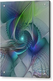 Rebirth-fractal Art Acrylic Print by Karin Kuhlmann