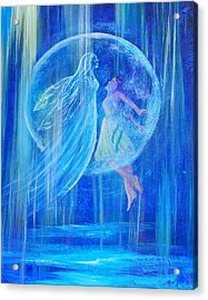 Rebirthing The Sacred Feminine Acrylic Print by The Art With A Heart By Charlotte Phillips