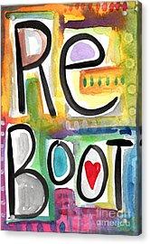 Reboot Acrylic Print by Linda Woods