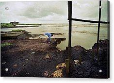 Receding Sea Shore Acrylic Print