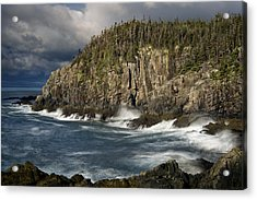 Receding Storm At Gulliver's Hole Acrylic Print by Marty Saccone