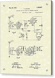 Receiver 1923 Patent Art Acrylic Print