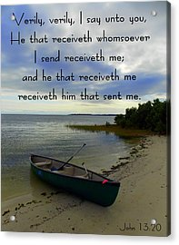 Receiveth The Lord Acrylic Print by Sheri McLeroy