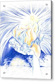 Receiving Grace From The Divine    Oneness Art Acrylic Print