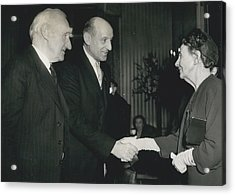 Reception To Mark Award Of Nobel Prize Acrylic Print by Retro Images Archive