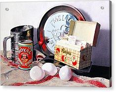 Recipes Acrylic Print by Denny Bond